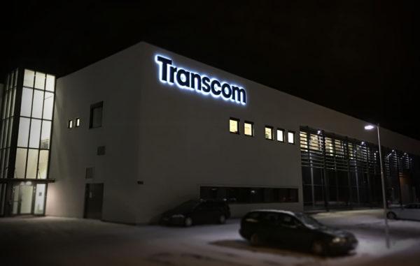 Fasadeskilt til Transcom Informasjonsskilt Informasjonsskilt transcom lysskilt 600x381