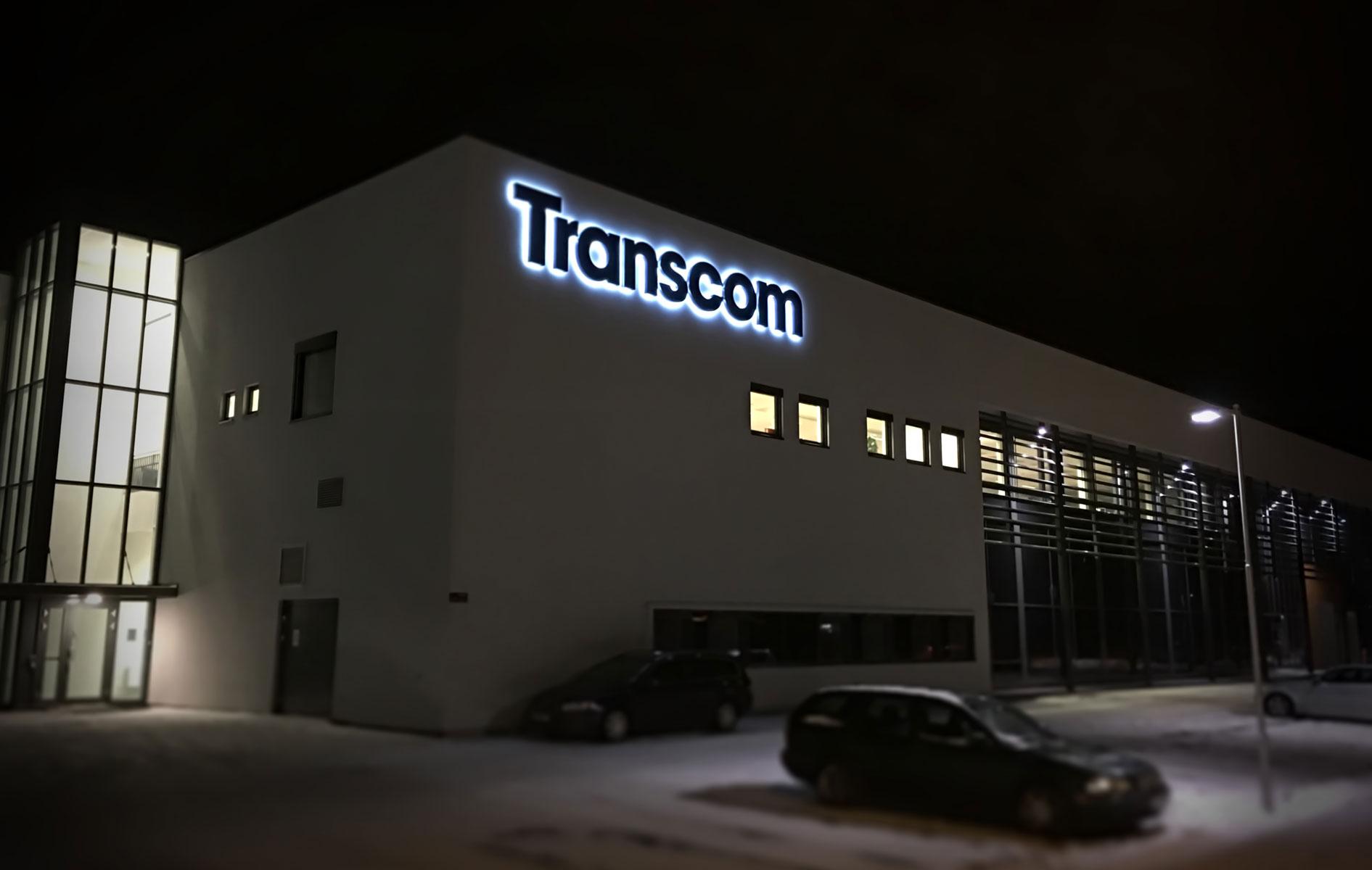 Fasadeskilt til Transcom
