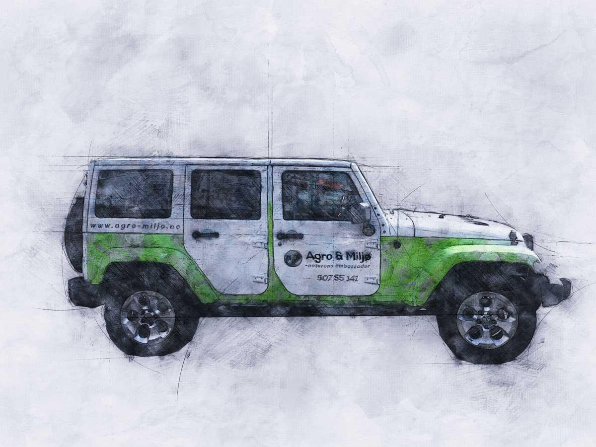 Gratulerer med ny bil - og dekor Gratulerer med ny bil – og dekor skeetch jeep wrangler web 1